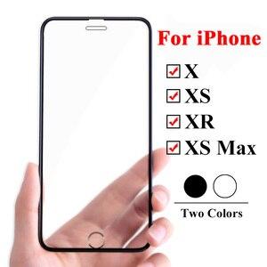 Image 2 - 10D Beschermende Glas Op De Voor Apple Iphone Xs Xr X 11 Pro Max Screen Protector Voor Iphone 6 6s 7 8 Plus 9H Gehard Tremp Film