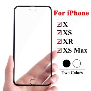 Image 2 - 10D verre de protection sur le pour Apple iphone xs xr x 11 Pro max protecteur décran pour iphone 6 6s 7 8 plus 9H film tremp trempé
