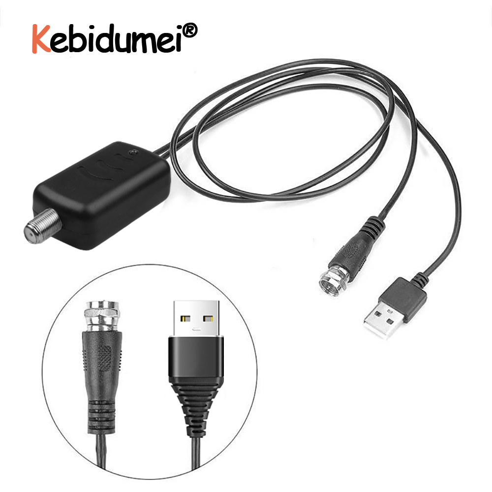 Kebidumei 25db Digital HD TV Signal Amplifier Booster Easy Installation Fox Antenna HD Channel Low Noise Low Noise