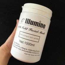 1KG 24k Gold Facial Mask Whitening Moisturizing Anti-wrinkle Mask Hospital Equipment 1000g Beauty Salon Products