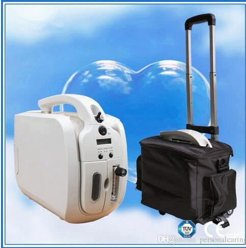 Battery Oxygen Concentrator 110V-240V DC12V oxygen device for Medical Home Travel Shopping Use with trolley and Car Adapter medical oxygen concentrator for respiratory diseases 110v 220v oxygen generator copd oxygen supplying machine