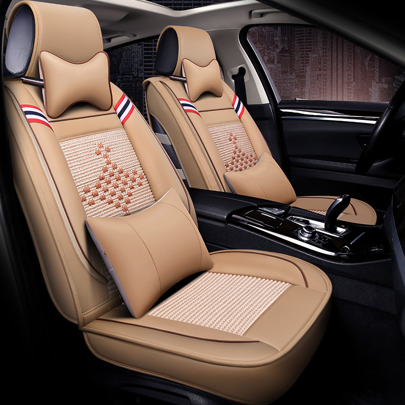 LCRTDS Ice Silk car seat covers for Dodge caliber caravan journey nitro ram <font><b>1500</b></font> image