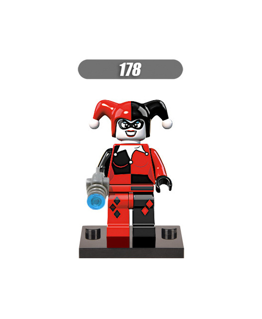 GUSUG 100PCS XH178 Super Heroes Marvel Avengers Harley Quinn Building Blocks Bricks Best Gift Kids DIY