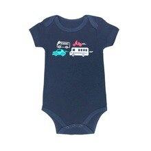 Baby Bodysuit Infant Jumpsuit Overall Short Sleeve Body Suit Set 100%Cotton Summer Clothing