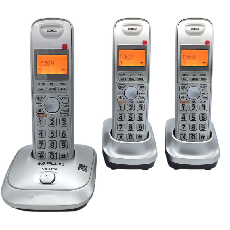 English Language DECT 6.0 Plus 1.9 GHz Digital Cordless Phone Call ID Handfree DEL Wireless Home Telephone For Office Bussiness ...