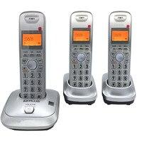 Język angielski DECT 6.0 Plus 1.9 GHz Cyfrowy Telefon Bezprzewodowy Tryb Głośnomówiący Zadzwoń ID Bussiness DEL Wireless Home Telefon Dla Biura