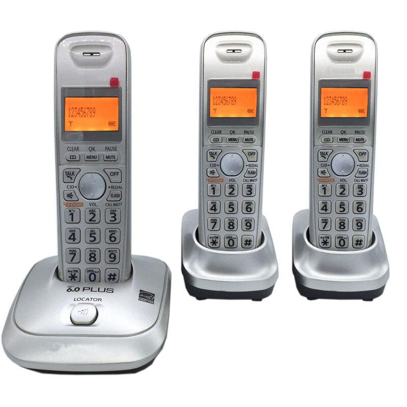 Lingua inglese DECT 6.0 Più 1.9 GHz Telefono Cordless Digitale ID di Chiamata Handfree DEL Wireless Home Telefono Per Ufficio Bussiness