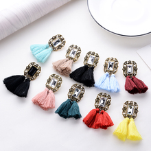 Fashion Crystal Earrings with Tassels