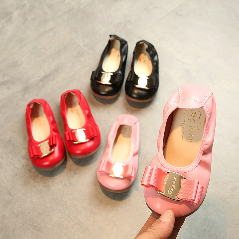 Fancy Girl Children Toddler Kid Shoes Princess Girls Shoes Fashion Luxury Brand 2019 Flat Dress Party Size 21-30