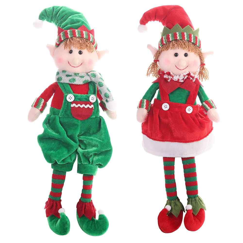 2019 Merry Christmas Elf Doll Toys for Home Ornaments for Kids Gift Birthday Holiday Table Decoration Plush Doll Toy Soft cute