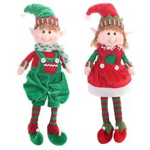 2019 Merry Christmas Elf Doll Toys for Home Ornaments for Kids Gift Birthday Holiday Table Decoration Plush Doll Toy Soft cute cute holiday snowman doll lint cellucotton toy for christmas white red