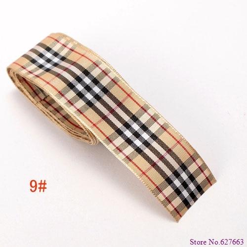 size 1 25mm scottish font b tartan b font plaid ribbon Polyester Scotch ribbon DIY item