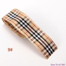 size 1 25mm scottish tartan plaid ribbon Polyester Scotch ribbon DIY item