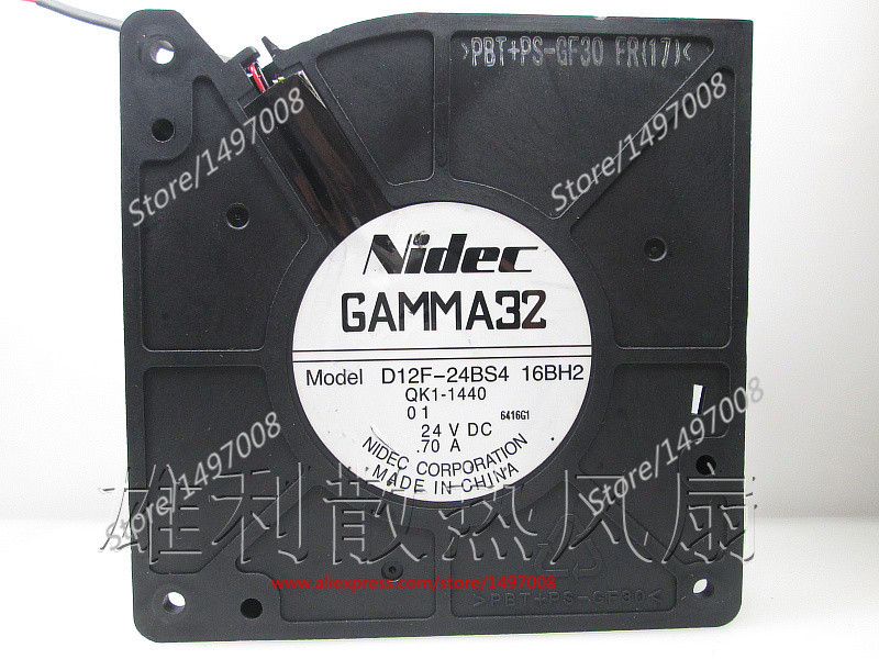 Free Shipping For Nidec D12F-24BS4, 16BH2  DC 24V 0.70A 4-wire 50mm, 120x120x32mm Server Square fan free shipping 24v dc mig welding wire feeder motor single drive 1pcs