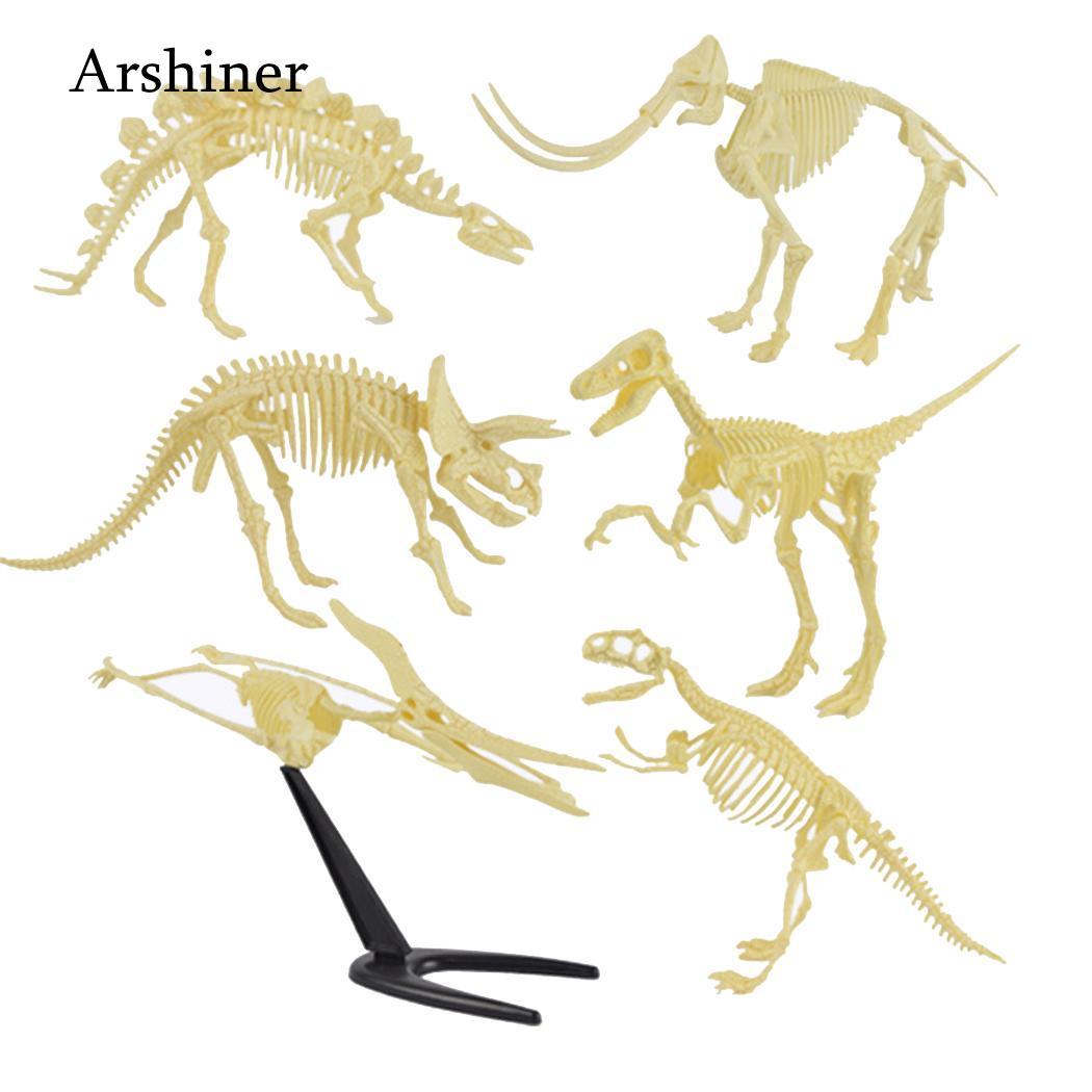 DIY plastic simulation skeleton puzzle dinosaur toy kids educational toy gift EC