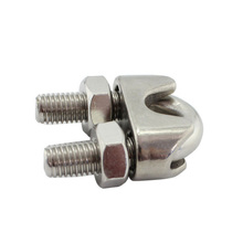 20 Pcs 304 Stainless Steel U Type Wire Rope Clip Cable Bolts Rigging Hardware Clamps M2/3/4/5/6/8/10 mm