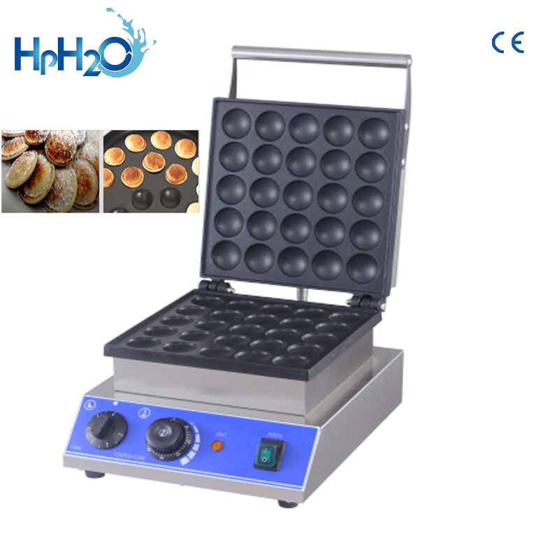 Commercial 25 Holes Poffertjes Grill Maker Small Cake Baking Equipment Mini Pancake Snack Machine Dorayaki Machine
