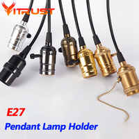 Edison Bulb Holder Retro pendant lamp holder E27 hanging lights bulb holder withswitch Pendant Light Socket Lighting Accessories