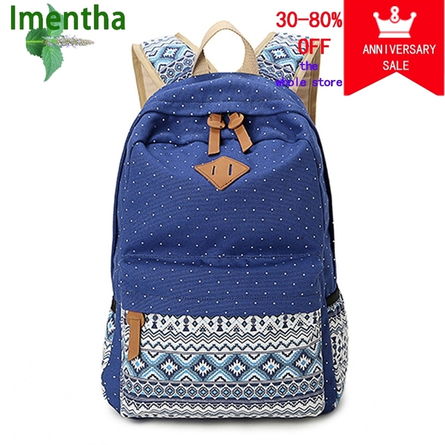 Facotry Whole Price Las Student Women Printing School Backpacks For Agers S