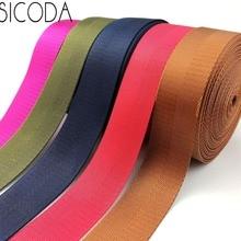 SICODA 10 หลา 38 มม. Smooth nylon webbing เทป heavy duty 1.0mm หนา Nylon Herringbone เทปกระเป๋าถือกระเป๋าและเข็มขัด