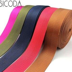 Image 1 - SICODA Cinta adhesiva reforzada de nailon resistente, 10 yardas, 38mm de ancho, cinta de espiguilla de nailon de 1,0mm de grosor, bolso de mano con equipaje y cinturón