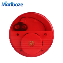 Marlboze Wireless Home Security 120dB Sound and Light Water Leakage Sensor Alarm ABS Independent Water leak Detector Alarm