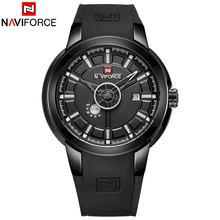 7972948dc313 Naviforce Relojes de hombre marca de lujo del análogo de cuarzo 3D Cara  reloj de goma Hombre Deporte relojes reloj del ejército .