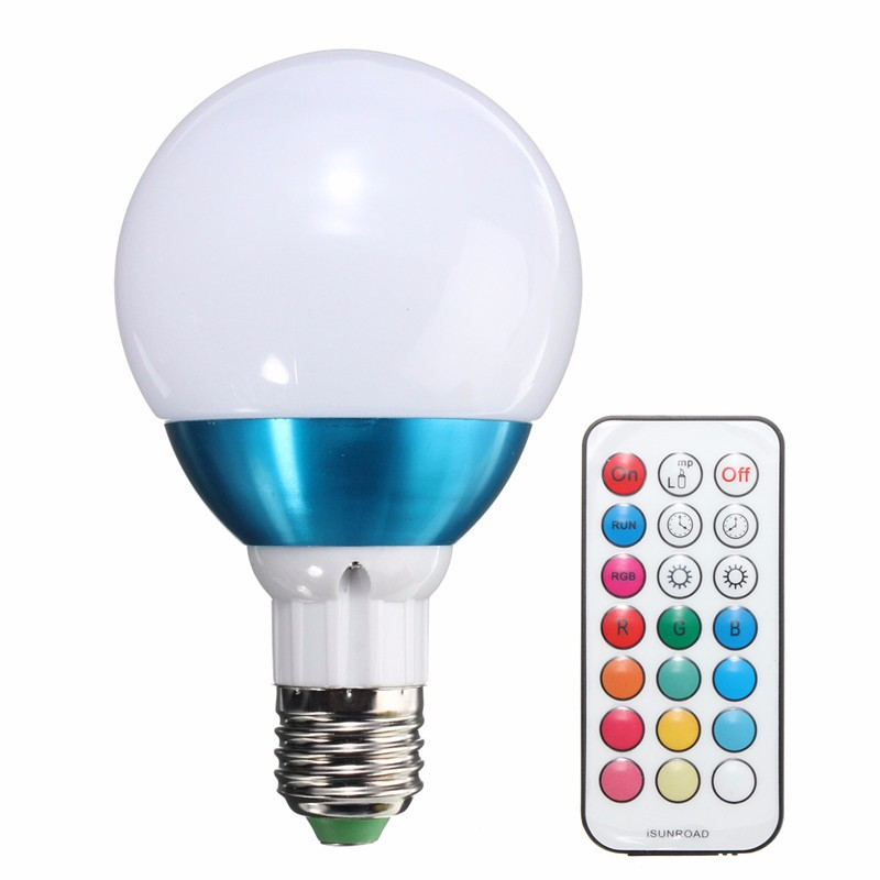 8W RGBW LED Light Bulb E27 Dimmable 12 Color Changing Energy Saving Lamp Globe Light with Remote Control RGB Lighting AC85-265V led light bulb e27 36w dimmable globe bulb cool energy saving lamp warm white spot light chandelier candle lighting ac110 240v