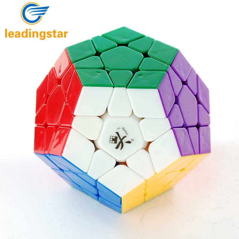LeadingStar Free shipping White Color Dayan Megaminx 1 Stickerless Magic Cube Good Toy for Children And