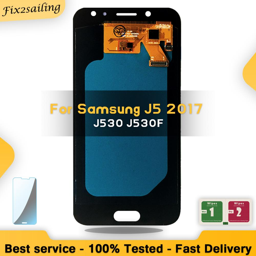 5.0 AMOLED LCD For Samsung Galaxy J5 2017 J530 SM-J530F J530M LCD Display Touch Screen Digitizer Assembly Brightness Adjustment5.0 AMOLED LCD For Samsung Galaxy J5 2017 J530 SM-J530F J530M LCD Display Touch Screen Digitizer Assembly Brightness Adjustment