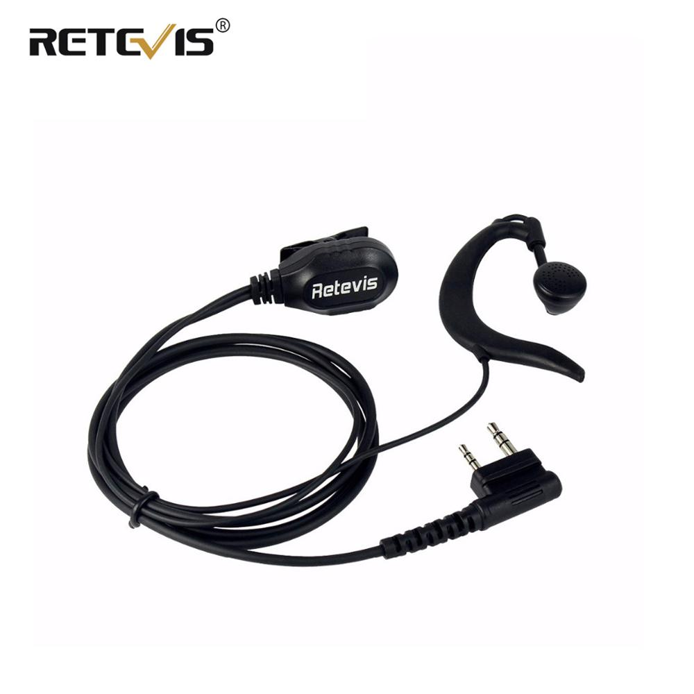 New Retevis G-Shape Ear Hook Microphone PTT Earpiece For Retevis RT8 RT3 For TYT MD-390 For Kenwood For Baofeng