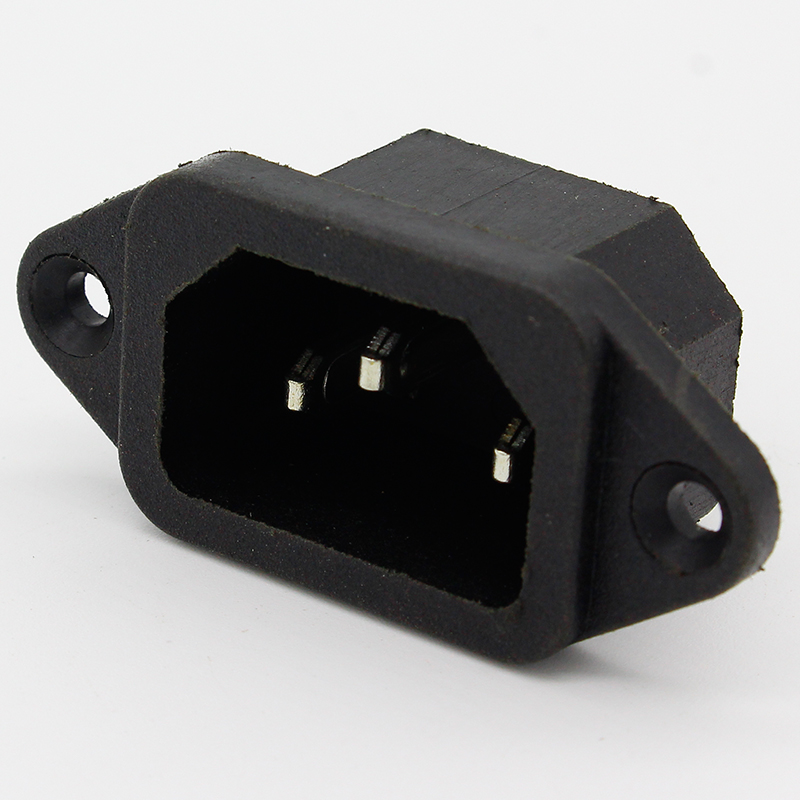 5 Pcs 3P IEC 320 C14 Male Plug Panel Power Inlet Sockets Connectors AC 250V 10A