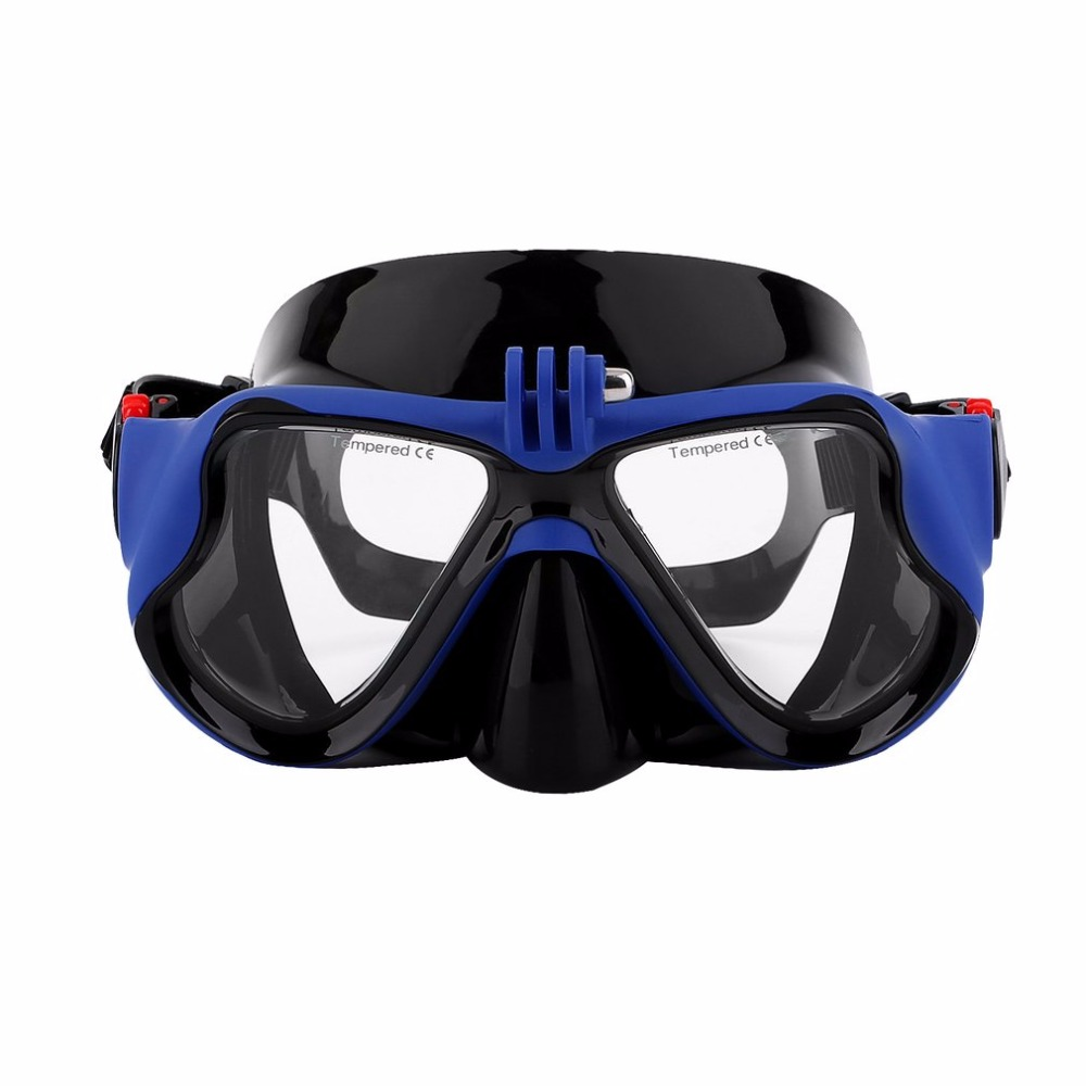 Professional Underwater Camera Plain Diving Mask Scuba Snorkel Swimming Goggles For Standard GoPro Sports Camera (get coupon) image