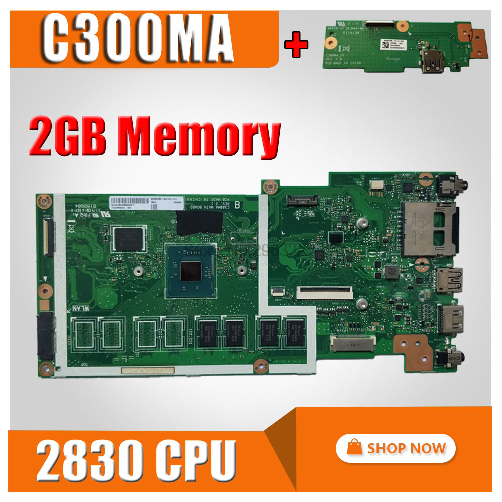 все цены на send board+Motherboard For ASUS C300MA GM -2830 CPU-2G RAM Notebook notebook C300MA motherboard C300MA mainboard test 100% OK