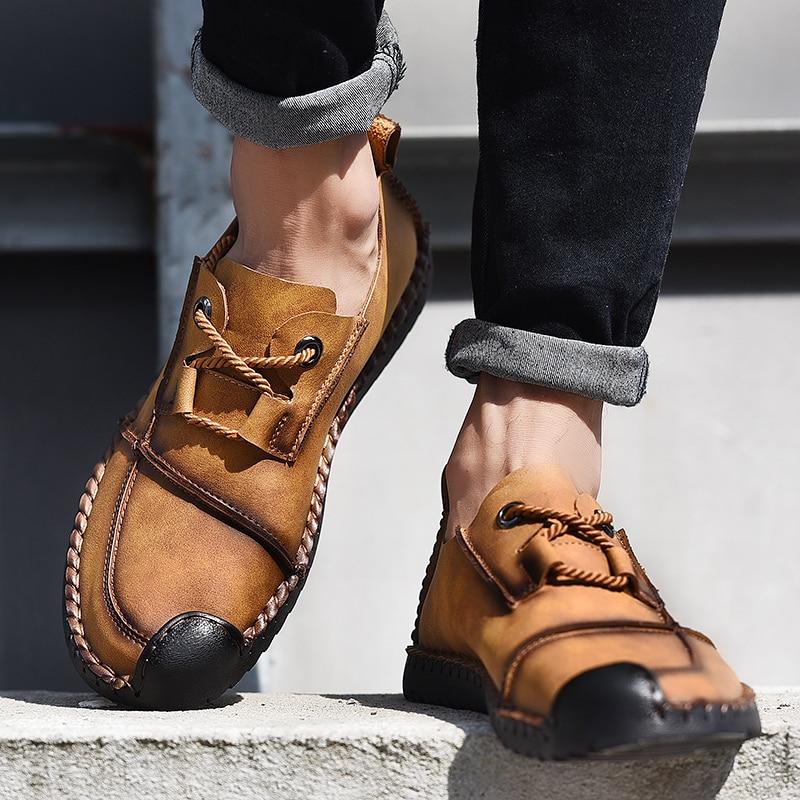 Mocassins Split Véritable Black yellow Qualité Chaussures Main Casual En khaki À La Appartements Hommes Confortable Cuir zqWROPxB