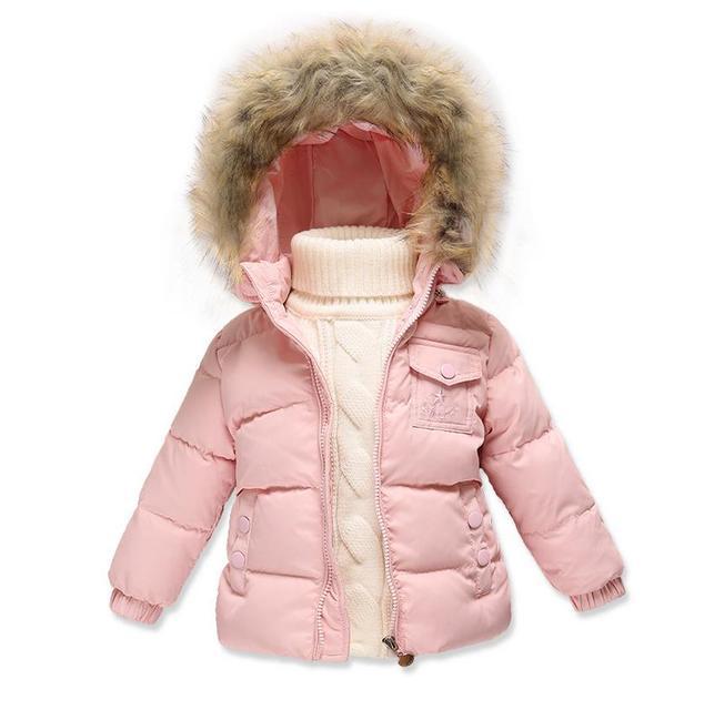 2953d78aaa47f 2016 mode 80% Eiderdown bébé fille hiver manteau nouveau-né Snowsuit pour  bébé garçons