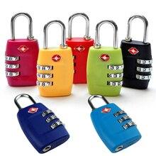 7 Colores Aleación Al Aire Libre Kit de Viaje Bolsa de Equipaje Cerradura de Combinación TSA 3 Dígitos Reajustable Maleta Lock Candado De Seguridad