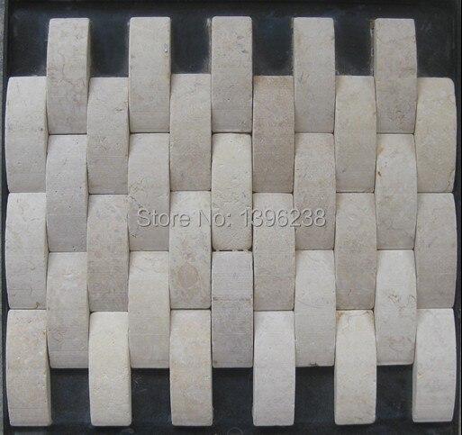Beige Stone marble mosaic <font><b>tiles</b></font>,3d wall <font><b>tiles</b></font>,Home subway design,Kitchen/Fireplace/TV/Shower background mesh decor <font><b>tiles</b></font>,LSST001