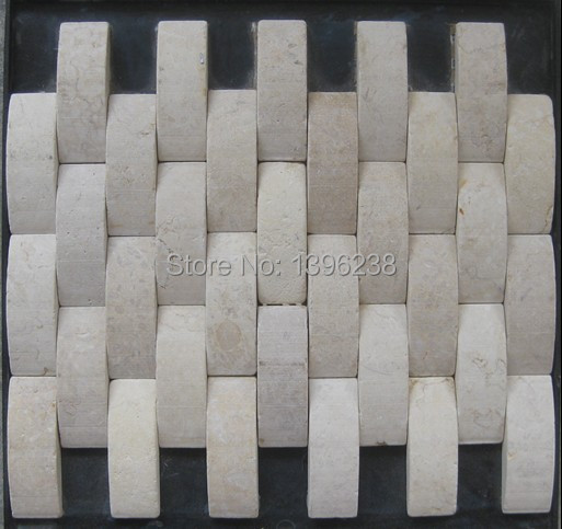 Beige Stone marble mosaic tiles,3d wall tiles,Home subway design,Kitchen/Fireplace/TV/Shower background mesh decor tiles,LSST001 ocean blue pearl shell mosaic tile gray natural marble kitchen backsplash sea shell tiles subway glass conch wall tiles lsbk53