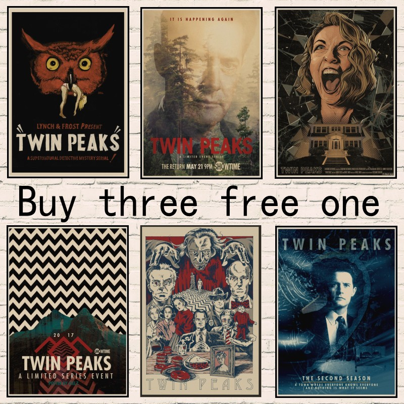 New Vintage Poster Twin Peaks Movie Home Room Bar decorative painting Poster kraft paper retro poster