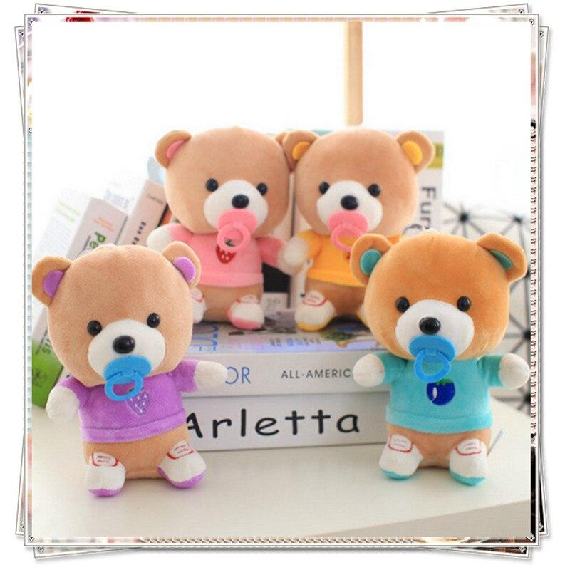 Teddy bear kids baby toys mamas papas koala doll kawaii plush we bare bears spongebob mini teddy stuffed animals birthday gift
