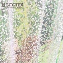 ISINOTEX Занавес Окна Желтые Цветы Оставляет Прозрачный Sheer Для Дома Гостиная Скрининг Вуаль Ткани 1 Шт./лот
