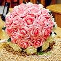 Hecho a mano Ramo De La Boda para Las Novias Rojo/Rosa Artificial Flor de Rose Ramo de Novia Noiva Buque ramos de novia Envío Gratis