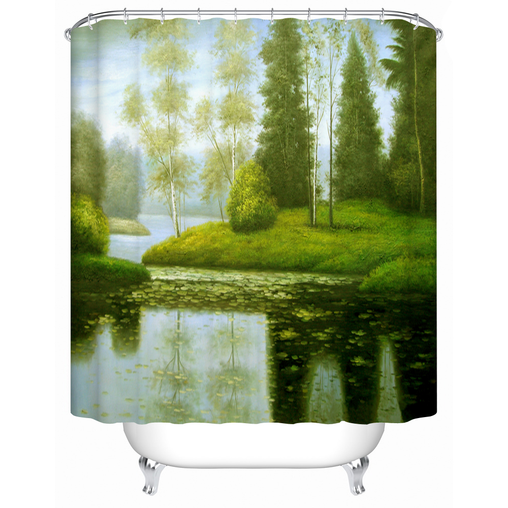 Green Home Bathroom: Environmentally Friendly And Practical Shower Curtains