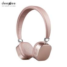 Deepdee модный bluetooth наушники большой Беспроводной Портативный гарнитура с HD микрофон для смартфонов громкой связи вызовы повязка на голову