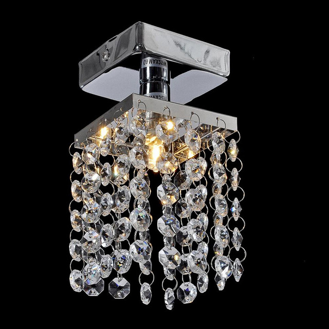 Mini Crystal Pendant Light Re Lighting Fixture Small Clear Lamp Res Wpl044