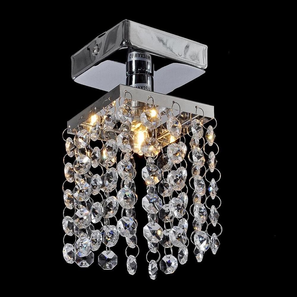 Mini Crystal Pendant Light Lustre Crystal Lighting Fixture Small Clear Crystal Lustre Lamp Lustres WPL044