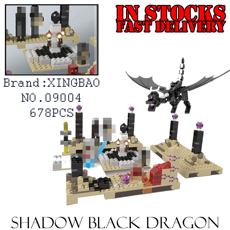 XingBao My World Minecraft 09004 678PCS The Ender Dragon Building Block Brick toys for children gifts compatible 10178 brinquedo loz mini diamond block world famous architecture financial center swfc shangha china city nanoblock model brick educational toys