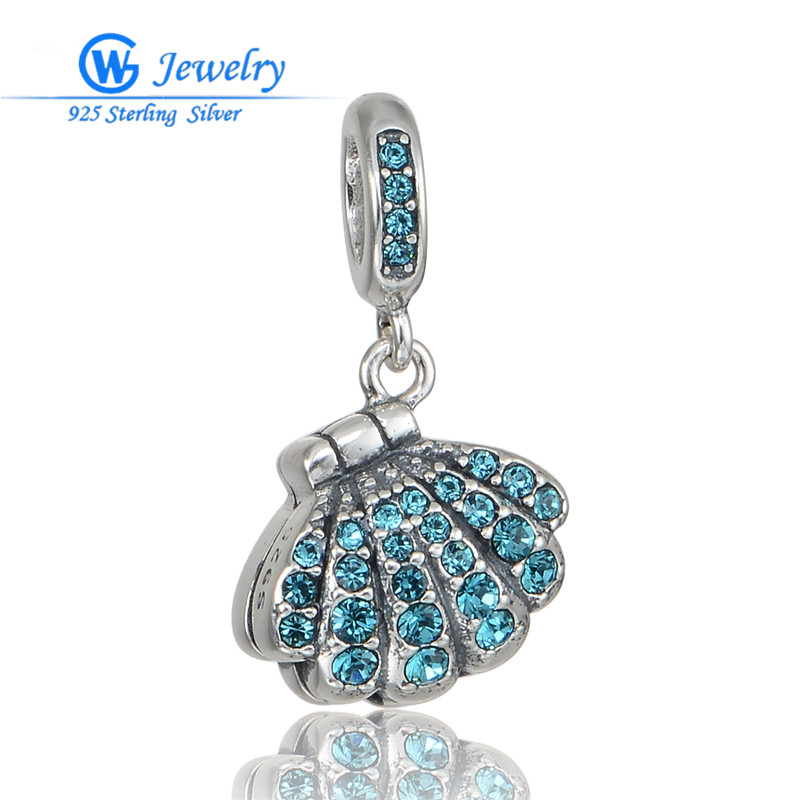 Nya 925 Sterling Silver Imperial Crown Bead Pendants Fit European Charms Armband & Armband
