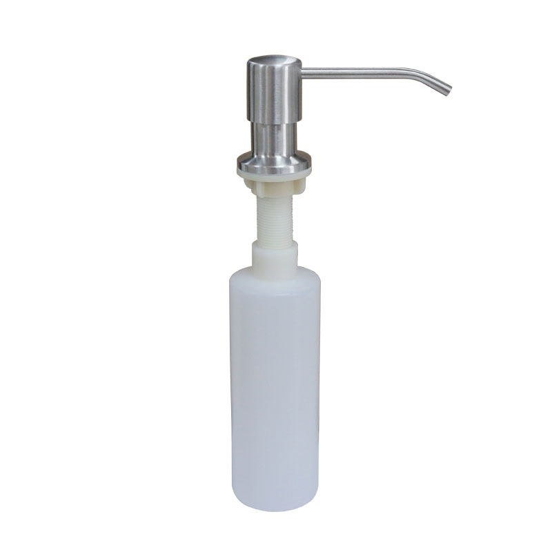 Kitchen Sink Soap Dispenser Brushed Nickel Stainless steel liquid soap dispenser promotion deck mount brushed stainless steel liquid soap dispenser promotion deck mount brushed nickel soap dispenser kitchen sink soap box bottle in liquid soap dispensers from home workwithnaturefo
